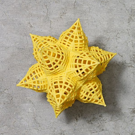 Frank Stella 3D-printed Star Ornaments