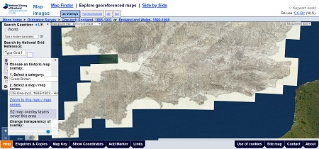 Explore georeferenced maps
